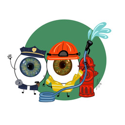 Eye-ssential Workers - Polce & Firefighters