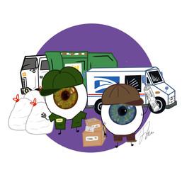 Eye-ssential Workers - Garbage & Mail Men