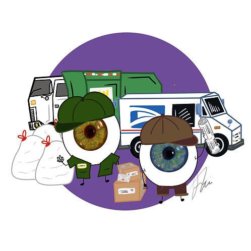 Eye-ssential Workers - Garbage & Mail Men 20 count