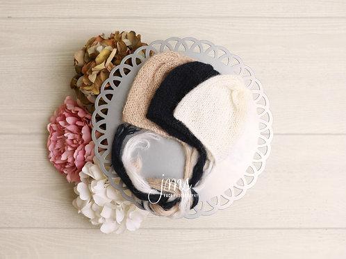 Knit Newborn Bonnet (Mohair)