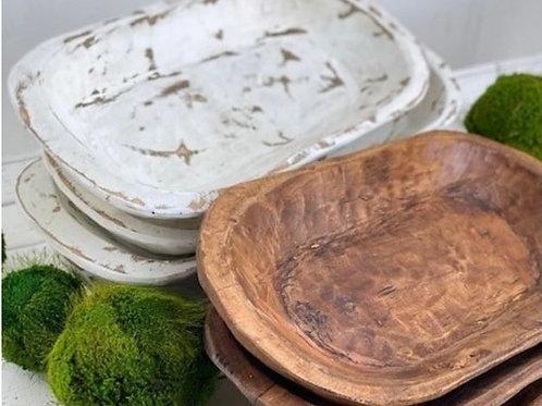 Long Wood Bowl/Baby Prop