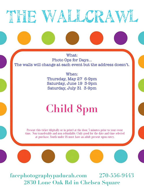 Child Ticket (ages 3-12), 8pm