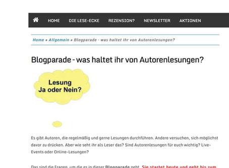 Blogparade - Was haltet ihr von Autorenlesungen?