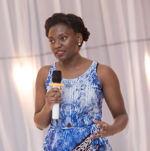 Illustrator, Nana Afua Pierre at A is for Accra Book Launch at Du Bois Centre, Ghana