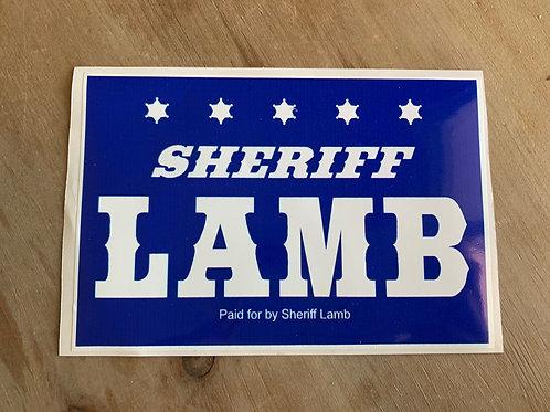 Sheriff Lamb Sticker - FREE