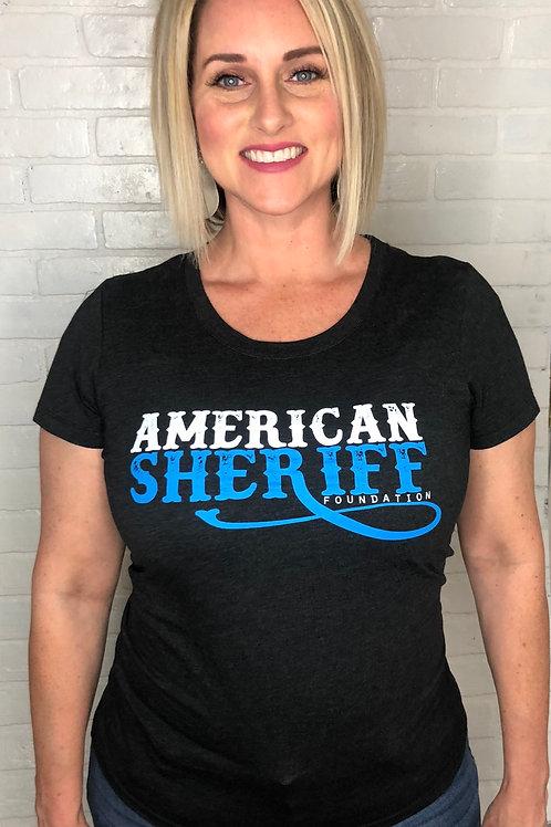 American Sheriff Foundation Shirt - Women's - Charcoal