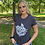 "Thumbnail: Women's - ""God Guns and Freedom"" Gray T-Shirt"
