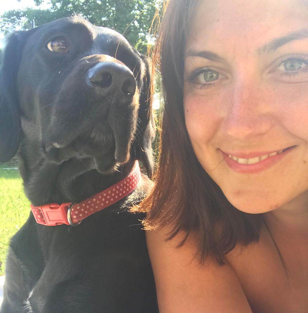 Claire with her Springador Jess