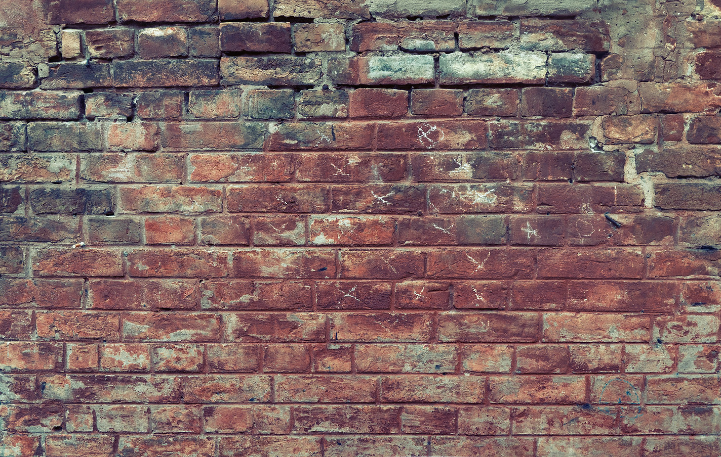Red old worn brick wall texture backgrou