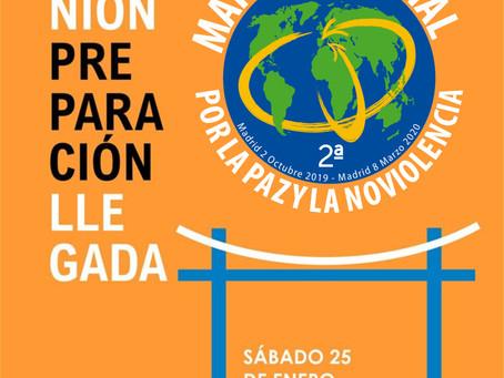 REUNION DE PREPARACION LLEGADA SEGUNDA MARCHA MUNDIAL POR LA PAZ Y LA NO VIOLENCIA.
