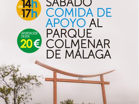 Comida de apoyo al Parque Colmenar de Málaga