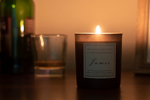 Personalised Scented Candle - Black Jar