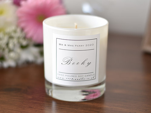 Personalised Scented Candle - White Jar