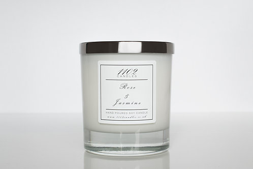 Rose & Jasmine Scented Candle