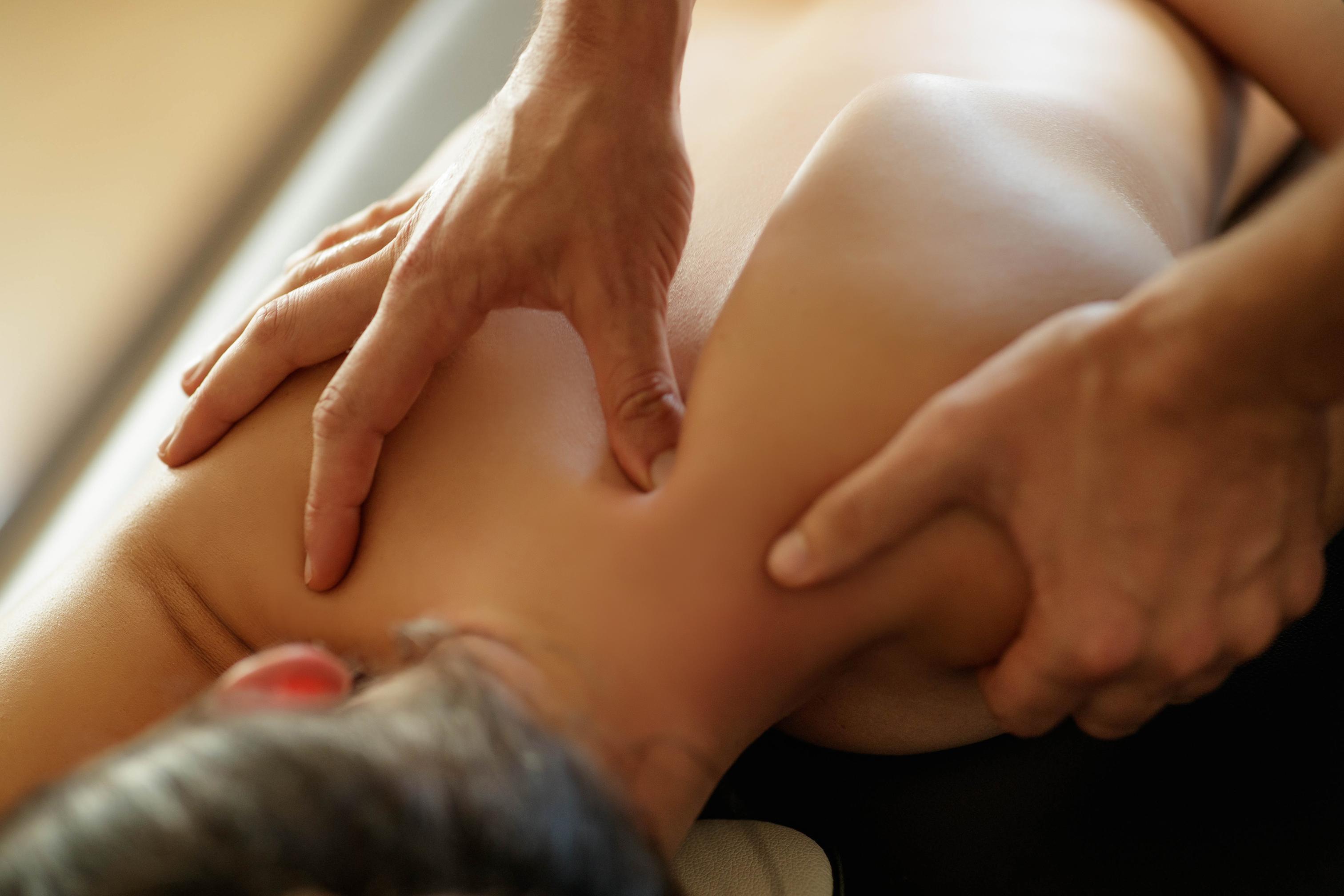Professional hand massage_