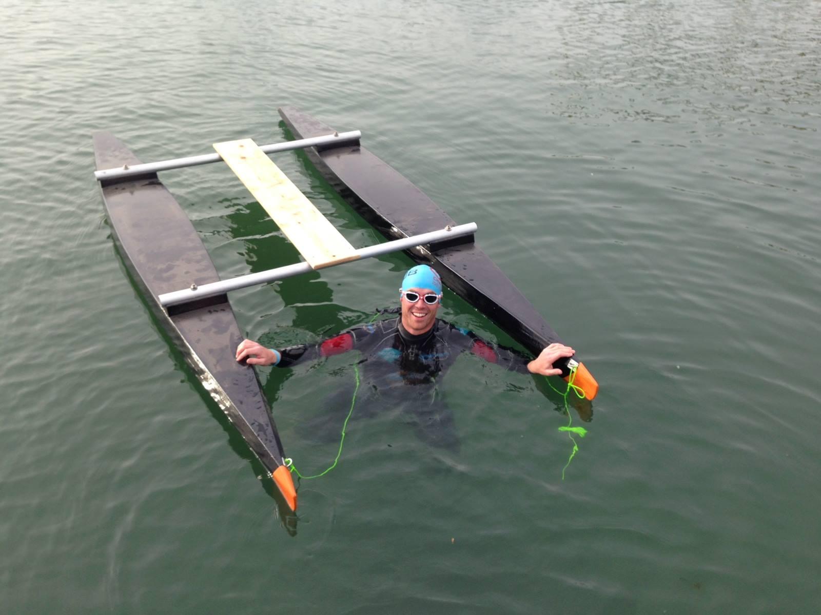 Sea test with the catamaran