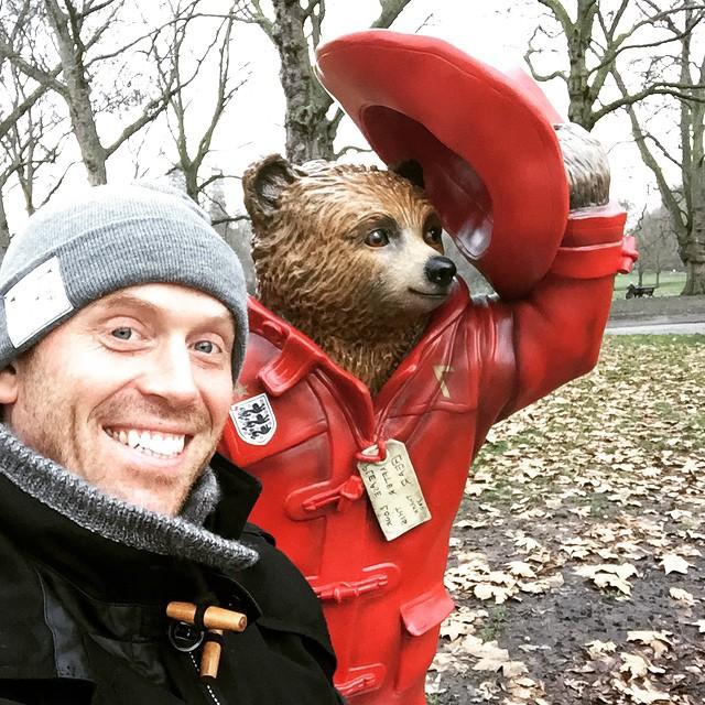 Instagram - #greatestIronman meets #GoldenPaws #beckham