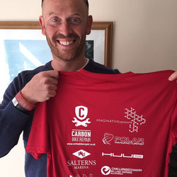 Instagram - Thrilled with team kit and support from the epic Alex @Teetotalltd (