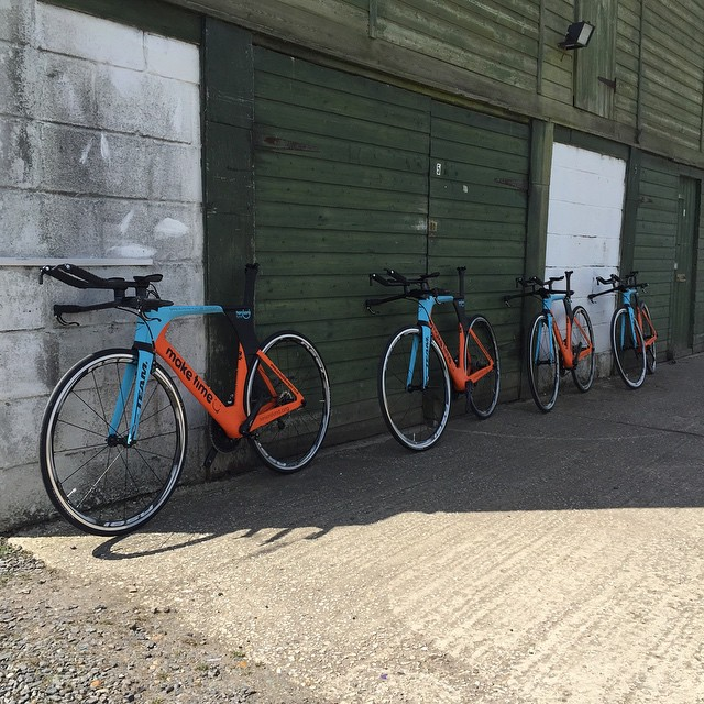 Instagram - The team 'weapons' with a fresh new paint job all provided by Carbon