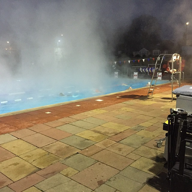 Instagram - This morning's shoot location... The awesome #hamptonpool outside bu