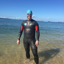 Instagram - #WorsePlacesToTrain Back to swim up and down Cheltenham Beach for an