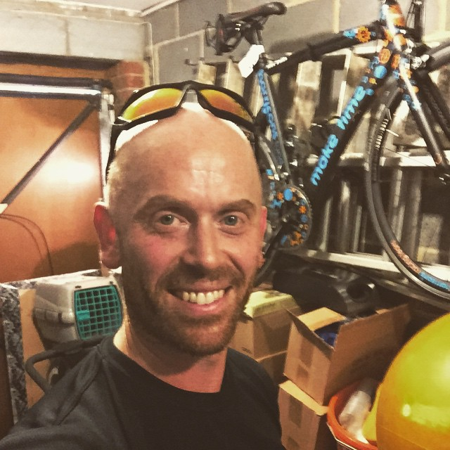 Instagram - Post 95 mins set on the bike in the pain cave followed by a 25mins (