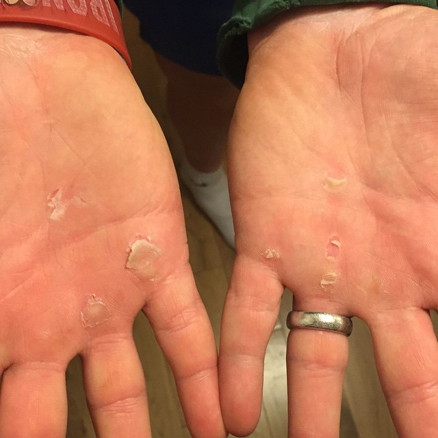 Instagram - @newwave_crossfit got a bit spicy on the hands tonight with 77 kippe