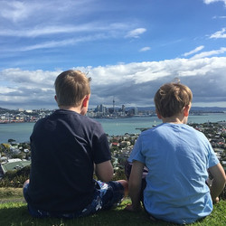 Instagram - The boys looking across to Auckland from Devonport #NZ #NZTrip2015 #