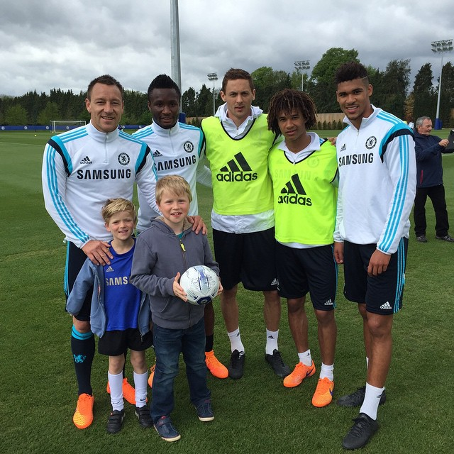 Instagram - Very cool morning for the boys! Thanks for the invite JT @johnterry.