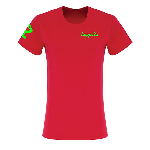 Rail Womens Tech Tee Red