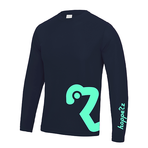 Flow Long Sleeve Tech Jersey French Navy