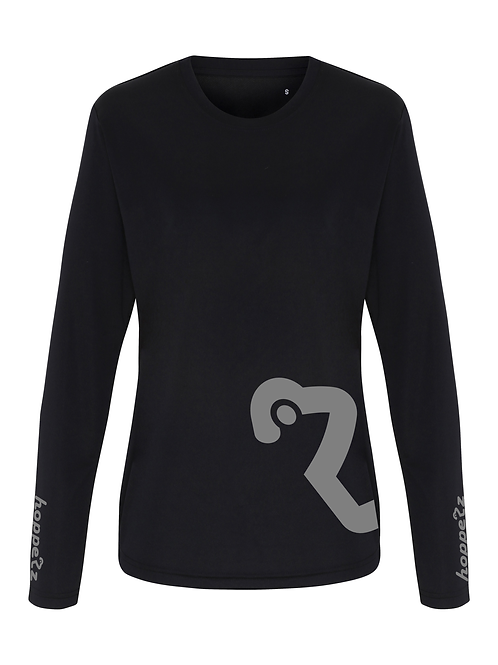 Whip Womens Long Sleeve Tech Jersey Black