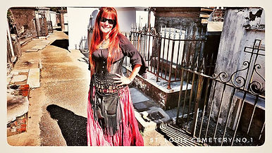 Jenifer Raven of tour guide also of Red Paw leather