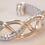 Thumbnail: Gorgeous Silver Plated Celtic Weave Cuff Bracelet