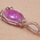 Thumbnail: Gorgeous Hand Made Oval Purple Moonstone Gemstone Pendant