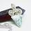 Thumbnail: Beautiful 925 Sterling Silver Larimar Gemstone Necklace