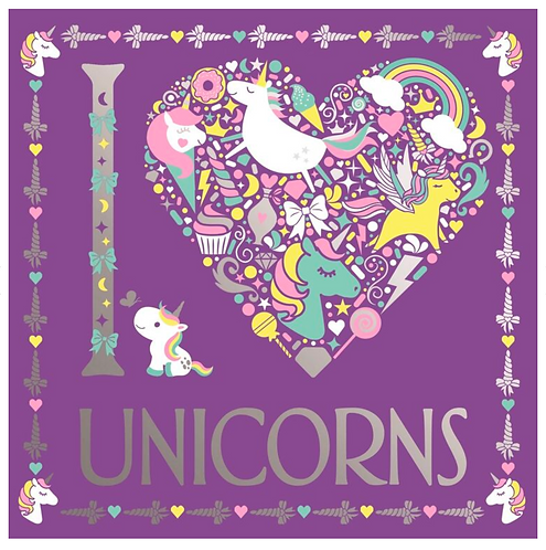 I Heart Unicorns Colouring Book