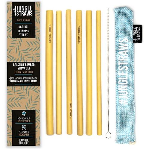 Bamboo Drinking Straws - Reusable Straw Set