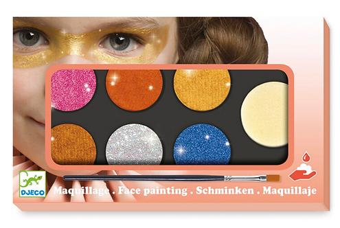 Djeco Face Painting Kit - Metallic Colours