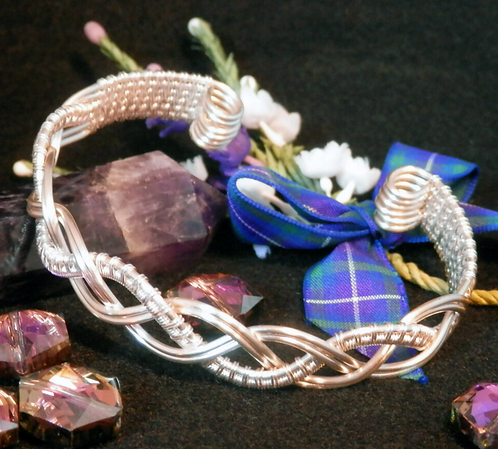 Gorgeous Silver Plated Celtic Weave Cuff Bracelet