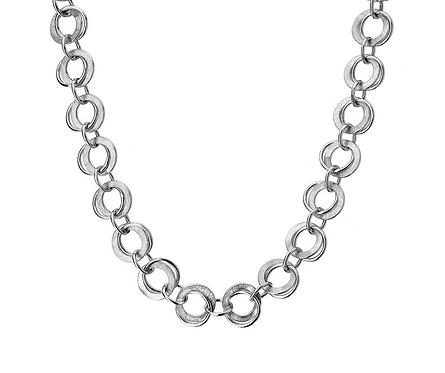 Silver Echo Designer Necklace