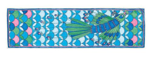 Djeco Peacock Silk Scarf Painting Kit