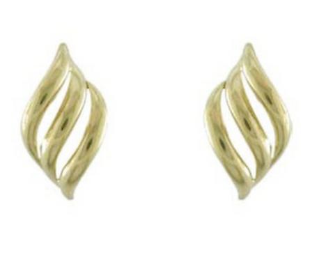 9ct Yellow Gold Multi Scroll Stud Earrings