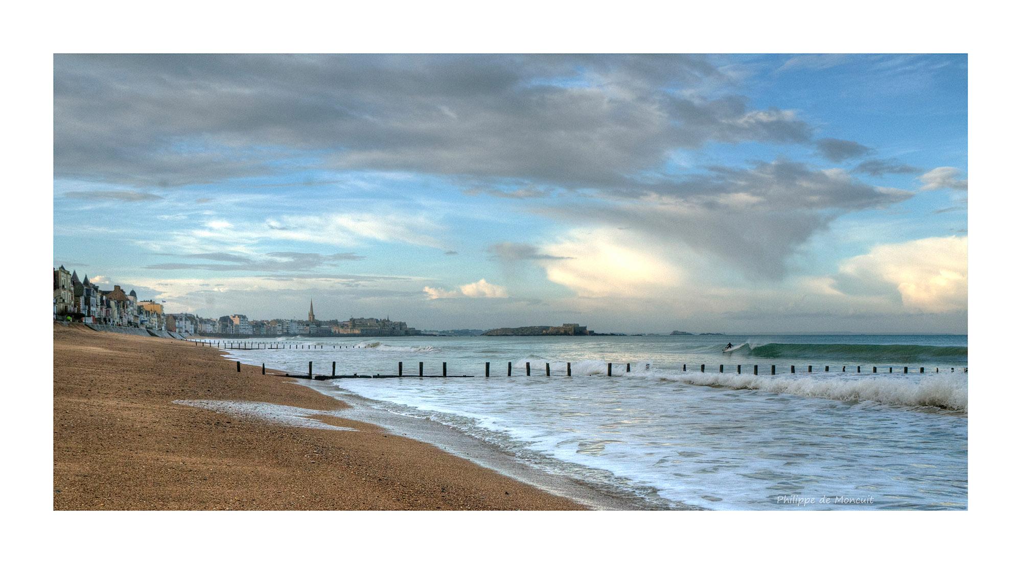 surf par un matin d'hiver