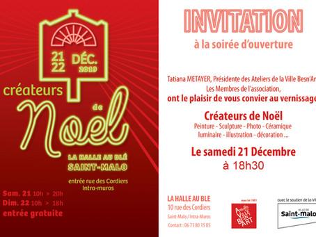Marché de Noël, Saint Malo les 21 et 22 décembre 2019