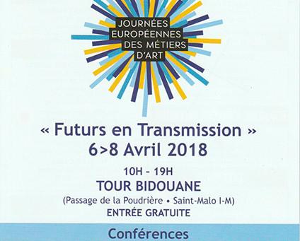 Expo aux Journées Européennes des Métiers d'Art 6 au 8 avril 2018
