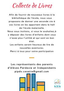 Aimé Césaire : Collecte de Livres pour la bibliothèque de l'école