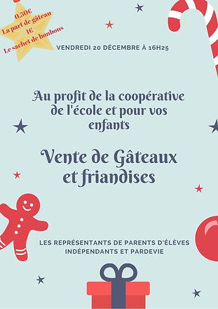 Blue and Red Decorations Christmas Flyer