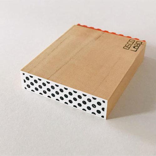 OSCOLABO カタチ×モヨウスタンプ テープ太ドット黒 KTF009
