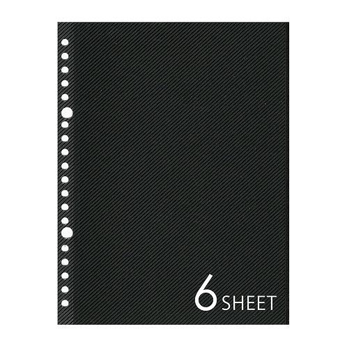 SLアルバムリフィル A5サイズ ブラック 6枚セット